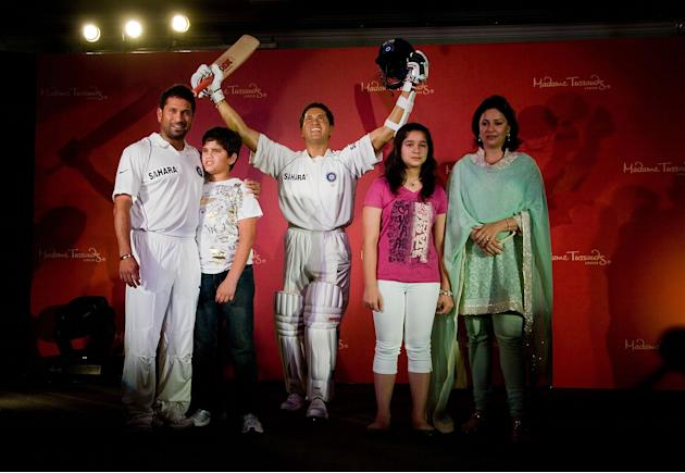 Sachin Tendulkar Waxwork Unveiled At Hotel Taj Lands End