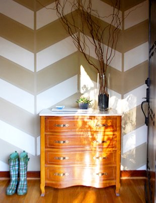 Herringbone Painted Wall