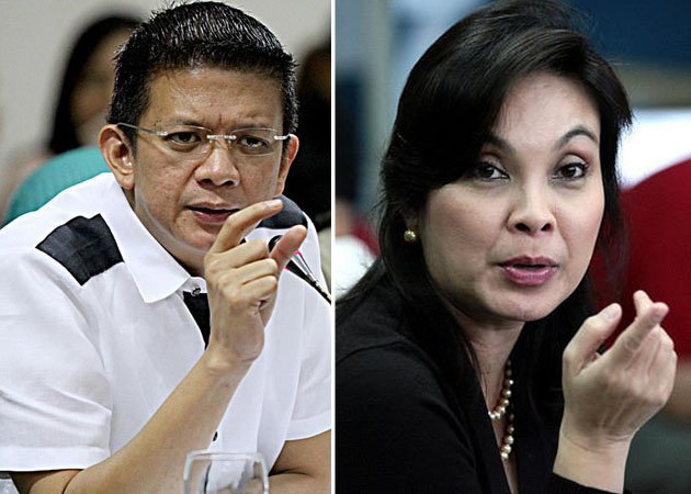 File photos: Chiz Escudero and Loren Legarda (NPPA Images)