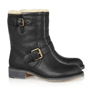 Shearling lined leather boots by Marc by Marc Jacobs