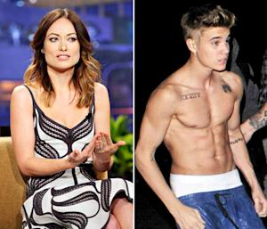Olivia Wilde Reads Hate Tweets From Justin Bieber's Fans on Jay Leno After She Told Him to Put a Shirt On