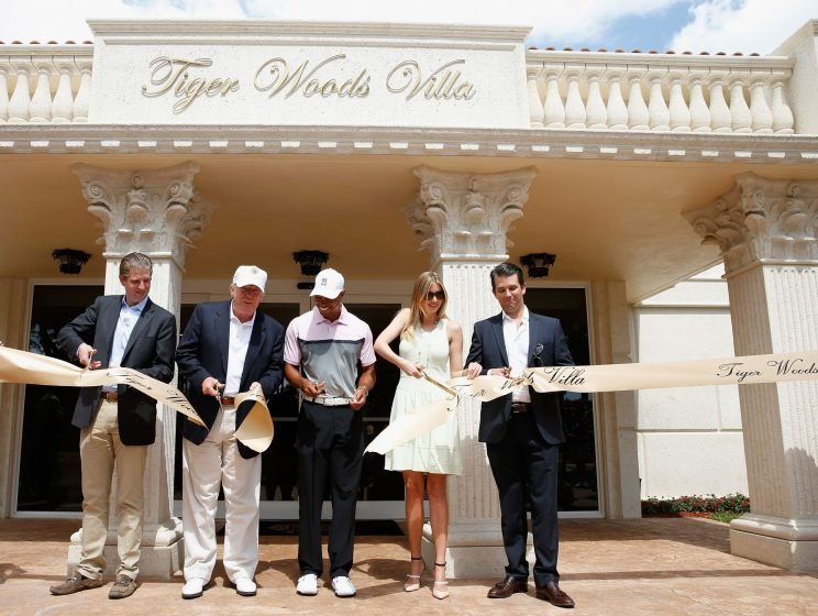 Tiger Woods has a villa named after him at Donald Trump's Doral resort in Florida. (Getty Images)