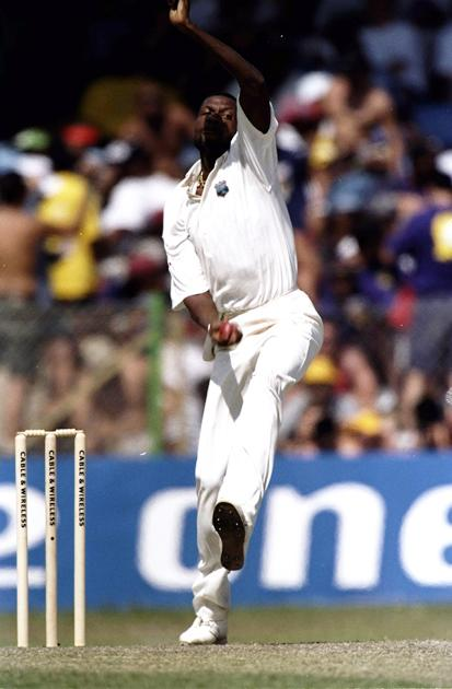 Curtly Ambrose of the West Indies