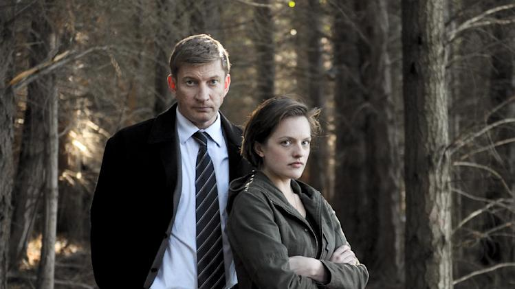 "This undated publicity image released by Sundance Channel shows David Wenham, left, and Elisabeth Moss in the Sundance Channel original miniseries ""Top of the Lake"". A TV miniseries and movie comeback will mean more Emmy Awards than expected at this year's ceremony. The TV academy's board of governors said it's reversing its 2012 decision to combine lead and supporting acting honors for such projects. In a statement, the board said that because of the ""unanticipated resurgence"" of TV miniseries and movies, it was reinstating the separate acting categories. The board was swayed by a rich field of potential contenders, including Elisabeth Moss and Holly Hunter in Sundance Channel's ""Top of the Lake"" and Ben Whishaw and Dominic West in BBC America's ""The Hour."" (AP Photo/Sundance Channel, Parisa Taghizadeh)"