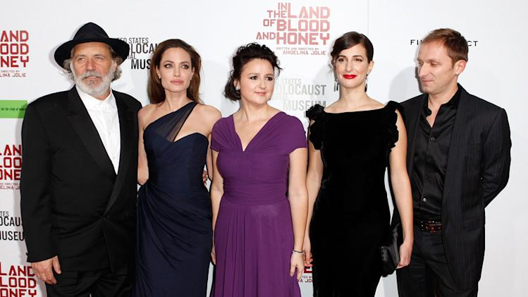 in the land of blood and honey 2011 LA Premiere Rade Serbedzija, Angelina Jolie, Vanesa Glodjo, Zana Marjanovic Goran Kostic