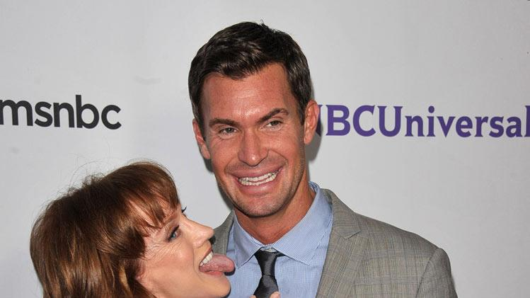 "Kathy Griffin of ""My Life on the D-List"" and Jeff Lewis ""Flipping Out"" attend the NBC Universal Summer TCA 2011 All-Star Party at the SLS Hotel on August 1, 2011 in Los Angeles, California."