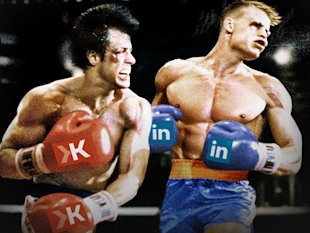 How Klout Is Poised To Clean LinkedIn's Content Clock image klout vs linkedin