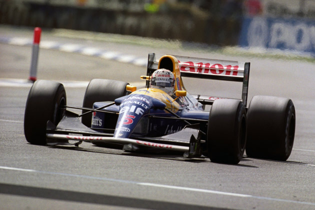 Nigel Mansell in the Williams-Renault .