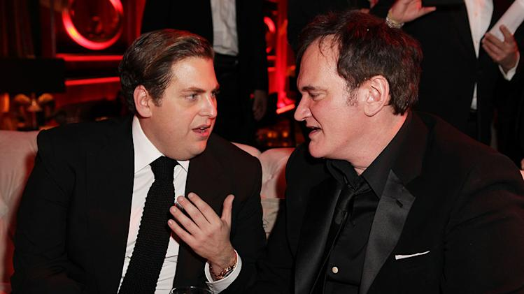 The Weinstein Company's 2013 Golden Globe Awards After Party Presented By Chopard, HP, Laura Mercier, Lexus, Marie Claire, And Yucaipa Films - Red Carpet: Jonah Hill and Quentin Tarantino