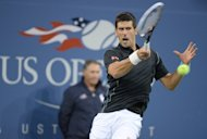 Novak Djokovic during his US Open match against Mikhail Youzhny in New York on September 5, 2013. Djokovic and Rafael Nadal must quell a double-edged assault from masters of the dying art of the single-handed backhand if they are to set up a blockbuster US Open final