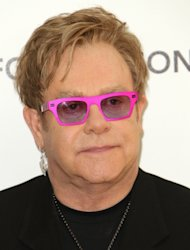 Sir Elton John arrives at the 19th Annual Elton John AIDS Foundation's Oscar viewing party held at the Pacific Design Center, Hollywood, on February 27, 2011 -- Getty Images