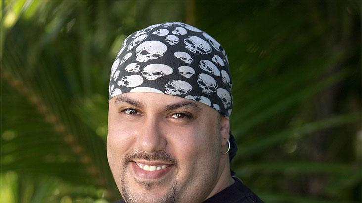 Billy Garcia a Heavy Metal Guitarist from New York City (Originally From Miami, Fla.), competes in the reality series Survivor: Cook Islands on CBS.