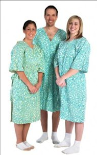 DVF-designed hospital gowns / Cleveland Clinic