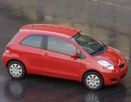 (Photo: The Toyota Yaris is among the most affordable fuel-efficient 2010 cars, starting at about $12,000.)