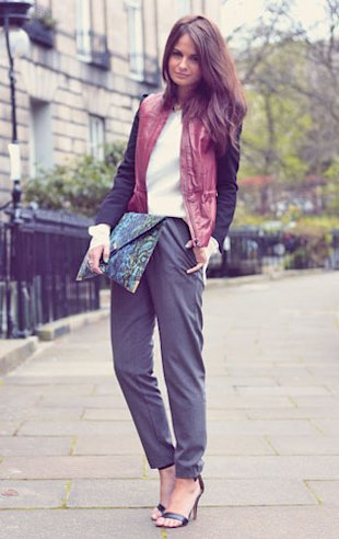 Style Hunter: The Contrast Sleeve Jacket