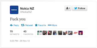 What Brands Can Learn From Nokia NZ Twitter Fiasco image Nokia Twitter Screen Shot