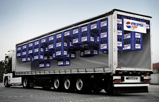 10 Of The Most Inspiring and Creative Advertising Banners image 7 pepsi light van