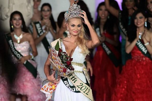 Miss Earth 2012 Tereza Fajksová from Czech Republic (George Calvelo/NPPA Images)