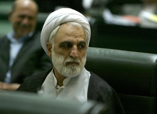 Iran's chief prosecutor Gholam Hossein Mohseni Ejeie, seen here in 2005, said four people have been sentenced to death in the Islamic republic's biggest-ever banking scandal