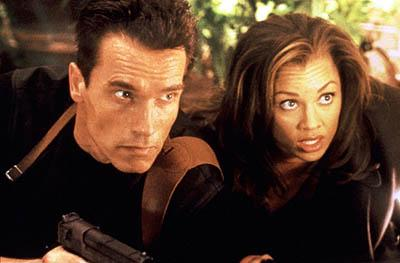 Arnold Schwarzenegger and Vanessa L. Williams in Eraser