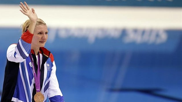 Rebecca Adlington waves to the crowd at London 2012 (Reuters)