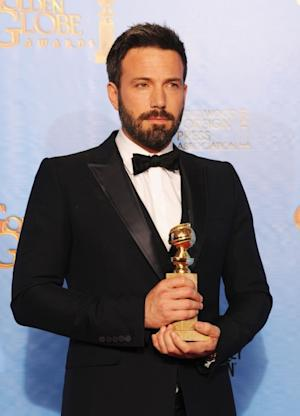 Ben Affleck, winner of Best Director, poses in the press room during the 70th Annual Golden Globe Awards held at The Beverly Hilton Hotel on January 13, 2013  -- Getty Premium