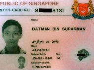Man Named 'Batman Son of Suparman' Jailed in Singapore