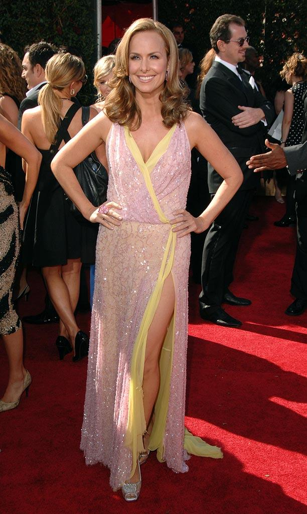 Melora Hardin arrives at the 59th Annual Primetime Emmy Awards at the Shrine Auditorium on September 16, 2007 in Los Angeles, California.