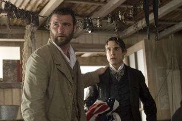 Liev Schreiber and Unax Ugalde in New Line Cinema's Love in the Time of Cholera