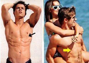 mark wahlberg and zac efron shirtless