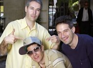 "L-R: The Beastie Boys, MCA aka Adam Yauch, Mike D aka Michael Diamond and Adrock aka Adam Horovitz are pictured in Paris in 2004. The Beastie Boys sold over 40 million records and released four number one albums, including the first hip hop album ever to top the Billboard 200, the band's 1986 debut full length, ""Licensed To Ill."""