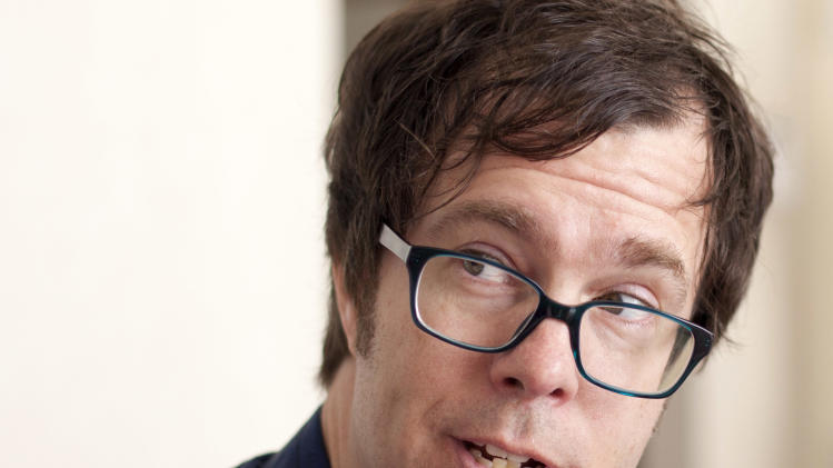 Musician Ben Folds is interviewed with The Associated Press in Washington, Monday, April 16, 2012, Fold and Alec Baldwin are going to Congress to ask for sustained federal funding for arts programs amid the ever tight budget climate. (AP Photo/J. Scott Applewhite)