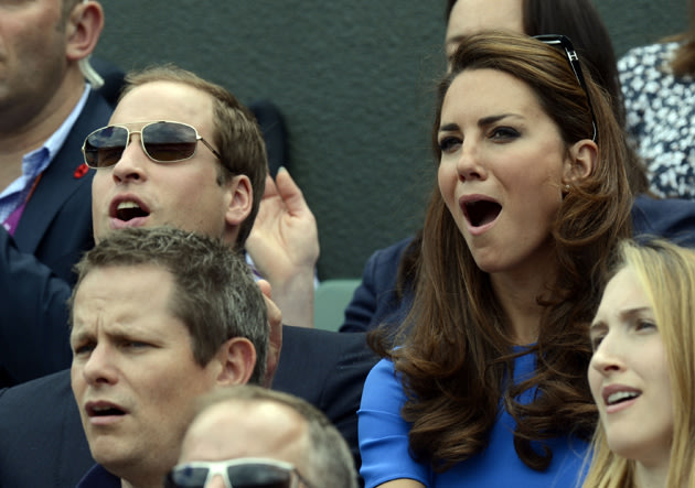 Kate Middleton and Prince William at the Olympics
