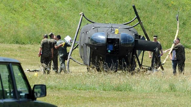Bosnian Army helicopter crashes‎