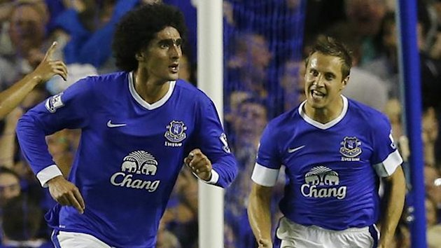 Marouane Fellaini and Phil Jagielka, Everton