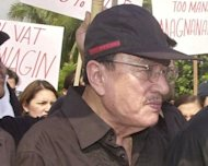 The Philippines wept Tuesday as the country's most popular comedian Dolphy, pictured here during a rally in 2003, succumbed to pulmonary disease after a month in hospital. He was 83