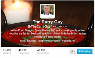 Spice is the Variety of Life for The Curry Guy image curryguy twitter