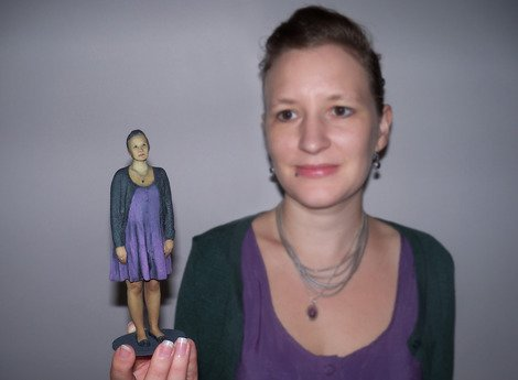 My 3D-printed mini-me and I.
