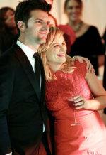 Adam Scott and Amy Poehler | Photo Credits: Tyler Golden/NBC