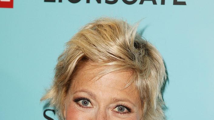 "Edie Falco attends the world premiere of Showtime's ""Nurse Jackie"" at Directors Guild Theatre on June 2, 2009 in New York City."
