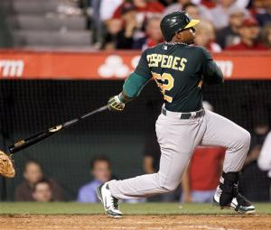 A's rally with 4-run 8th to beat Angels 5-3