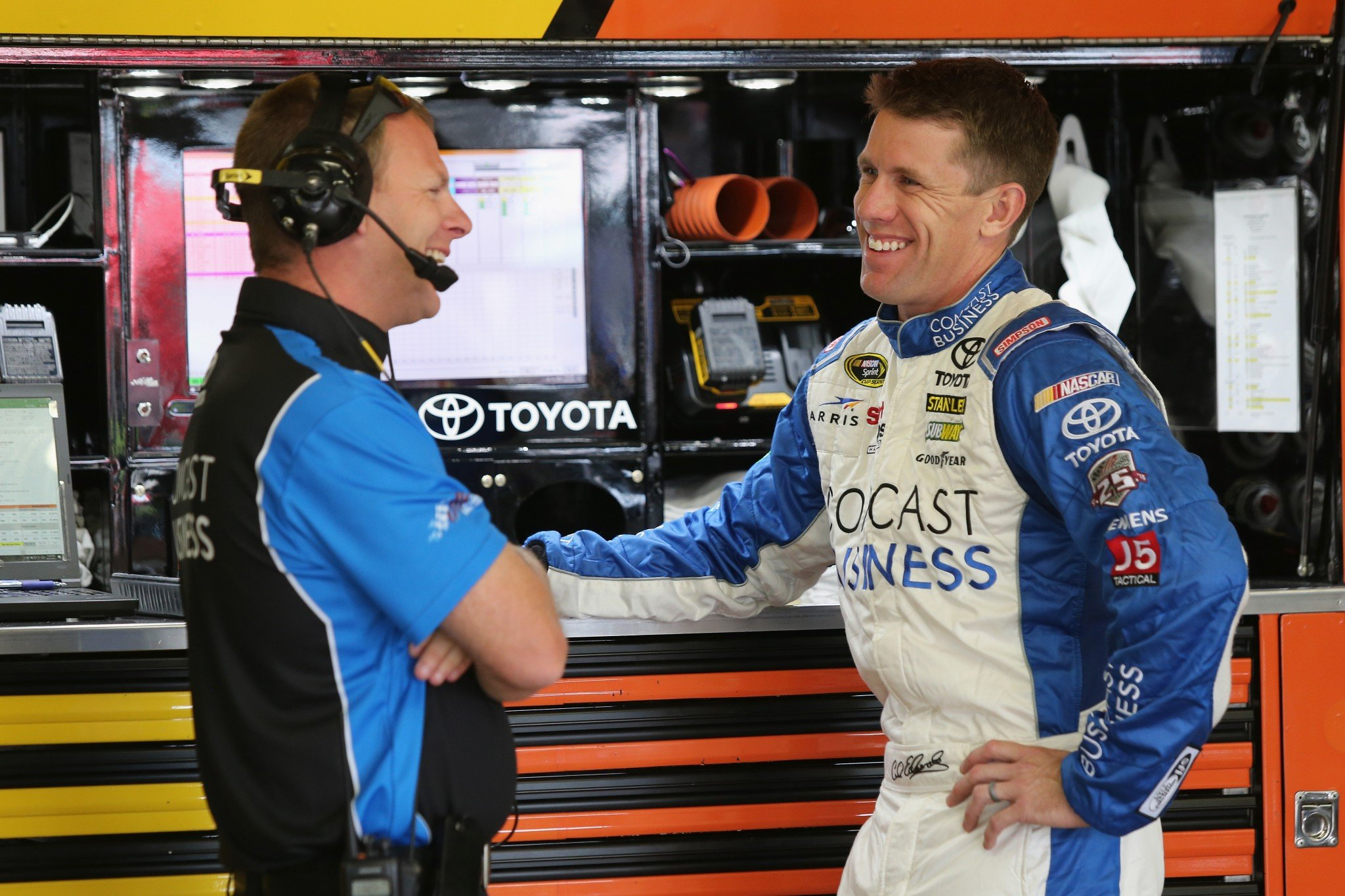 Carl Edwards swept the pole positions at New Hampshire in 2015 (Getty).