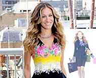 Look of the Day - Sarah Jessica Parker takes her chic run to London, stuns in dramatic floral print