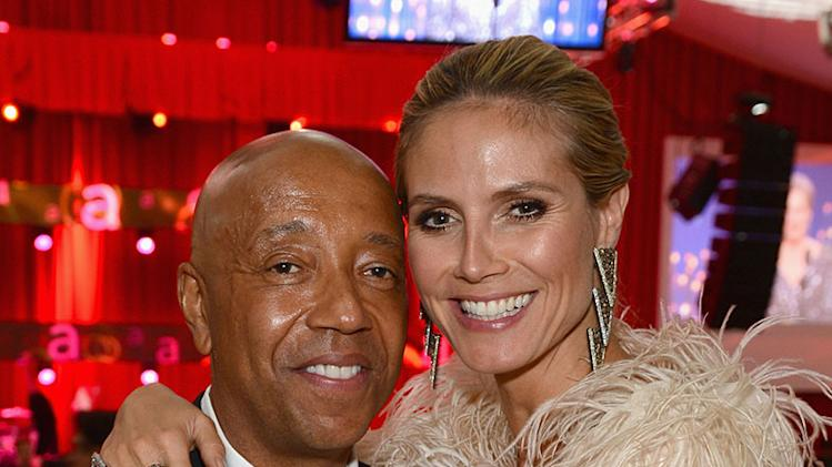 21st Annual Elton John AIDS Foundation Academy Awards Viewing Party - Inside: Russell Simmons and Heidi Klum