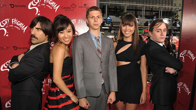 Scott Pilgrim vs the World LA premiere 2010 Jason Schwartzman Ellen Wong Michael Cera Aubrey Plaza Kieran Culkin