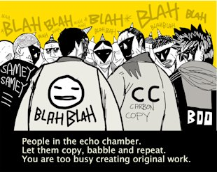 The Anti Blog Post to Writing Better Blog Posts. image echo chamber