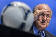 FIFA President Sepp Blatter, pictured during a press conference in Zurich, on September 28, 2012. Blatter on Saturday described the world body's decision to grant Indonesia an extension to solve its football crisis as a 'Christmas gift', urging it to get its 'house in order'