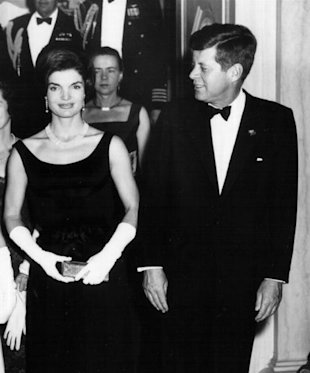 President John F. Kennedy and Jackie Kennedy attend a White House Ceremony February 19, 1963 in Washington, DC. (Photo by National Archive/Newsmakers)