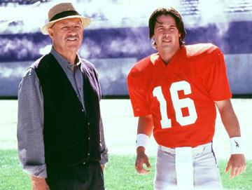 Gene Hackman and Keanu Reeves in Warner Brothers' The Replacements