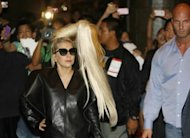 US singer Lady Gaga arrives at a hotel in Manila on May 19. Gaga is set to rock the Philippines later Monday amid planned street protests and with censors in the house on orders to report any hint of blasphemy, devil worship, nudity or lewd conduct